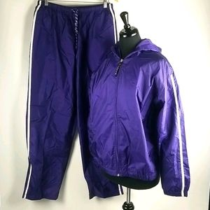 Lavon Purple Track Suit Size Large